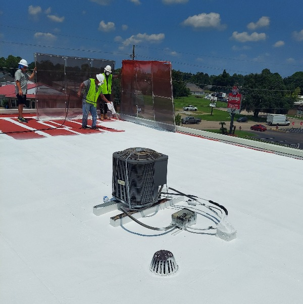 silicone roofing application